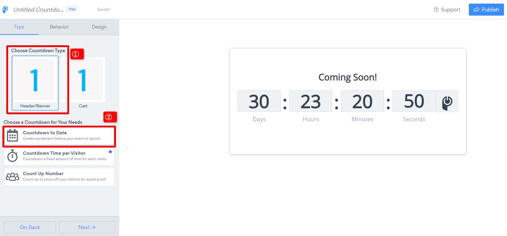 Countdown Timer   Cart Timerを使ったバナーの作り方