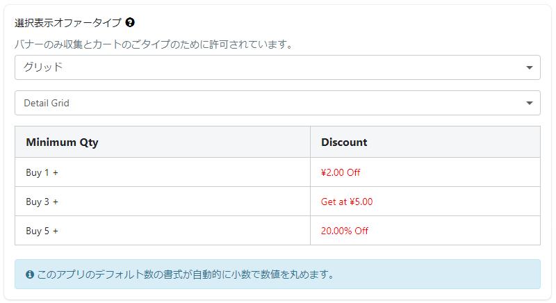 VolumeBoost ‑ Volume Discountの商品数ベースでの割引の設定方法